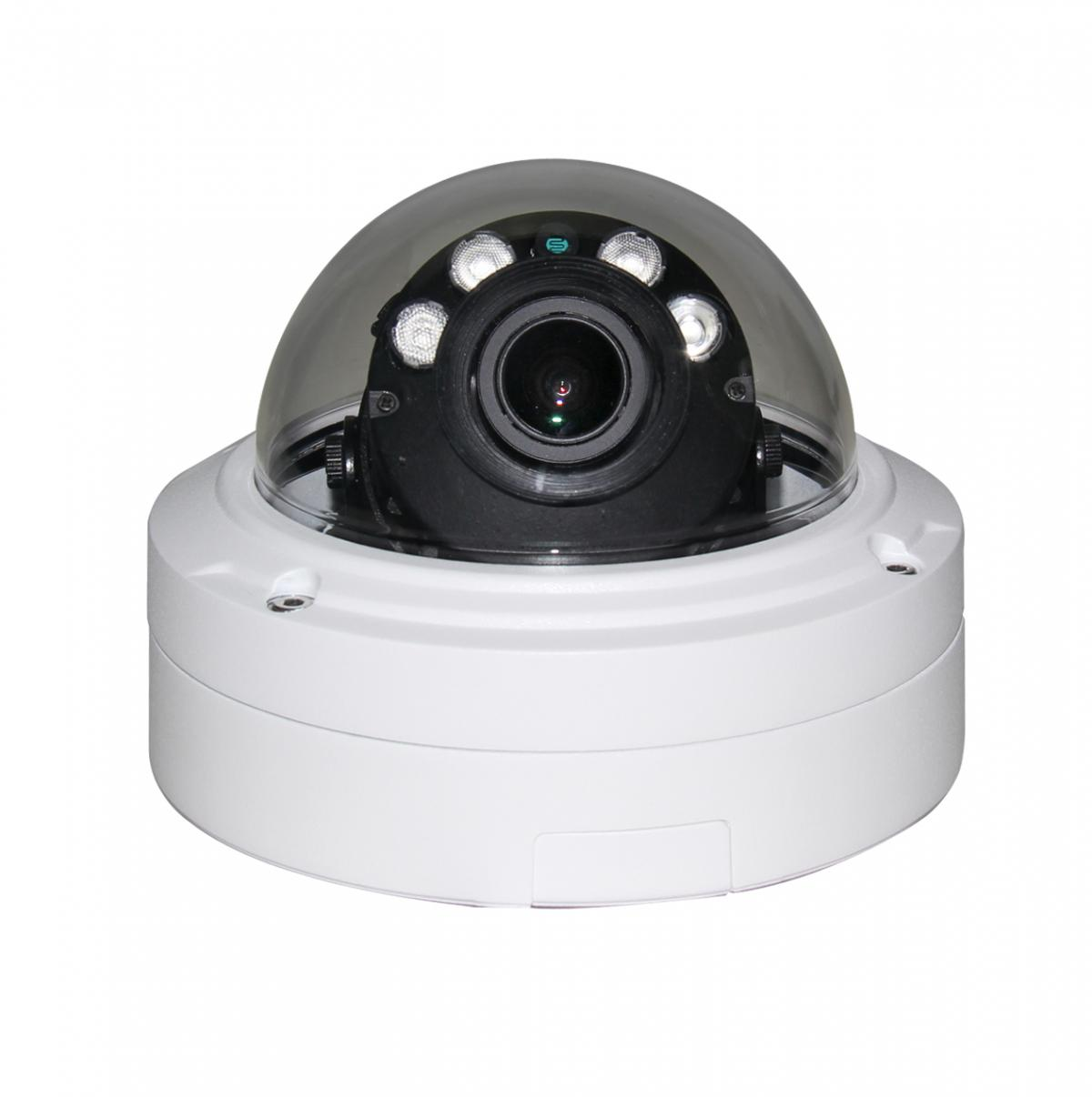 LOGSER AG - 3 MP IP-Dome Überwachungskamera, Motor Zoom 2.8-12mm, POE, IR Nachtsicht(Array)